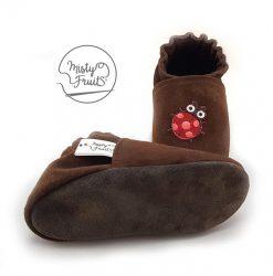 chaussons cuir souple bébé enfants coccinelle misty fruits