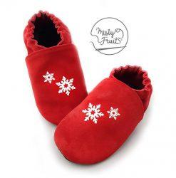 chaussons cuir souple bébé enfants flocons misty fruits