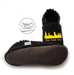 chaussons cuir souple garçon adulte New York City misty fruits