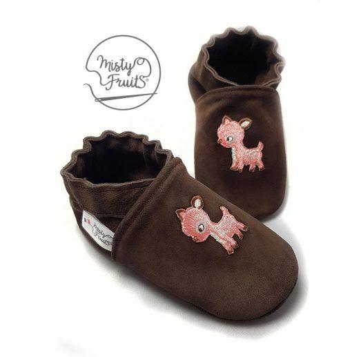 chaussons cuir souple bébé petit faon misty fruits