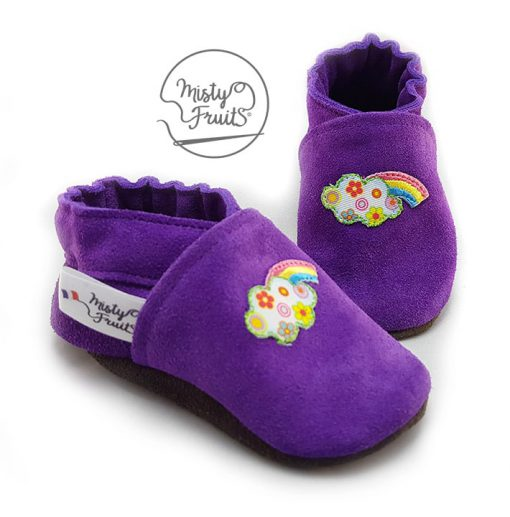 chaussons cuir souple arc en ciel misty fruits