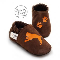 chaussons cuir souple enfants griffes de tigre misty fruits