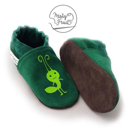 chaussons cuir souple garçon fourmi misty fruits