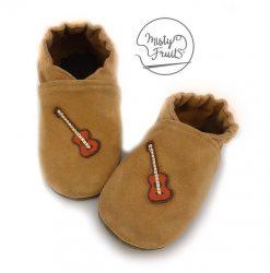 chaussons cuir souple garçon enfant garçon mini guitare misty fruits