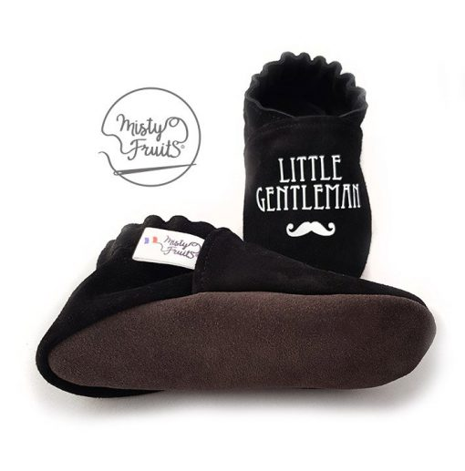 chaussons cuir bébé enfant adulte little gentleman misty fruits