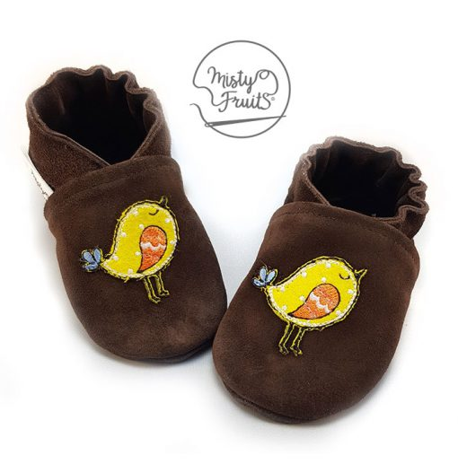 chaussons cuir souple poussin misty fruits