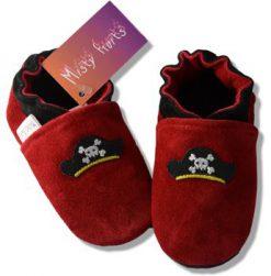 Chaussons cuir bébé Mini Pirate