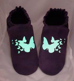 myriade de papillons chaussons cuir souple